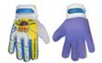 Перчатки вратарские подростковые BARCELONA FB-0029-05 (PVC, р-р 6, 7, 8, синий-желтый)