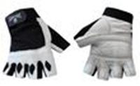 Перчатки для фитнеca ZEL ZB-6168 (кожа, PVC, эластан, открытые пальцы, р-р M,S белый)