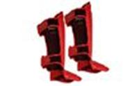 Защита для ног (голень+стопа) MMA Кожа TWINS красный