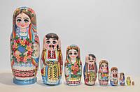 Украинская расписная матрёшка из 9-ти штук 901