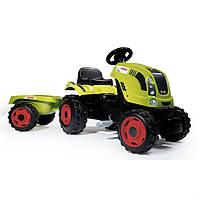 Трактор на педалях с прицепом Smoby XL Claas 710114