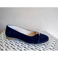 Туфли Т-25 из натуральной замши синий цвет.