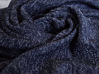 Трикотаж софт меланж тёмно-синий