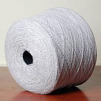 Пряжа-меланж1, бело-серый (бобина 300 г)