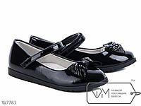 Детские туфли для девочки лаковые черные в школу