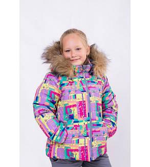 """Зимний комплект для девочки """"Фиерия""""( куртка + полукомбинезон), фото 2"""