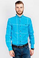 Рубашка яркая мужская 333F001 (Голубой)