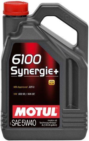 Моторное масло 5W-40 (4л.) MOTUL 6100 Synergie+