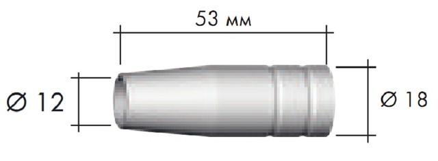 Сопло под пружину MB14/MB15 Binzel  145.0075