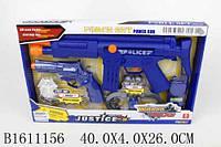 Полицейский набор винтовка, пистолет, наручники