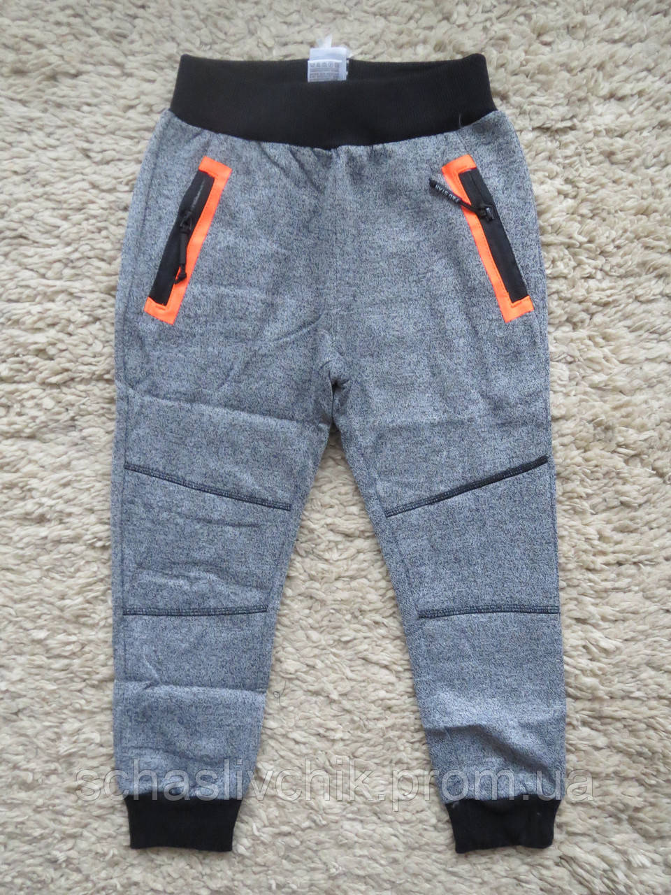 Зимние трикотажные спортивные штаны для мальчиков на флисе.оптом.Размеры 4-12.Фирма F&D .Венгрия