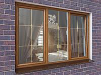 Окно в ламинации со шпросами