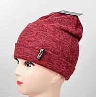 "Подростковая шапка ""Ангора меланж"" двойная, фото 1"