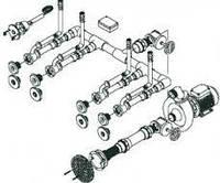Гидромассаж  Standard 4, присоединительный комплект,  1,5 кВт, WS