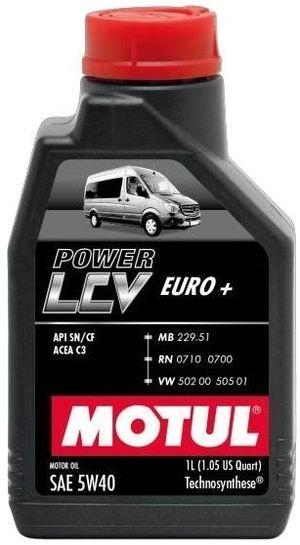 Моторное масло 5W-40 (1л.) MOTUL POWER LCV EURO+