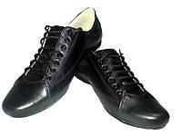 Туфли женские комфорт натуральная кожа черные на шнуровке