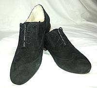Туфли женские комфорт натуральная замша на шнуровке