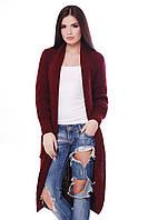 Стильный женский кардиган SELY марсала ТМ FashionUp 42-52 размеры