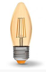 Лампа Videx Filament C37FA 4W E27 2200K 220V бронза