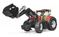 03191 Bruder трактор Case Optum 300 CVX с погрузчиком