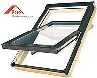 Окно мансардное Roto Designo R4 R45 Hдерево74*118