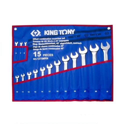 Набор комбинированных ключей, 6-32 мм, чехол из теторона, 15 предметов KING TONY