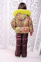 "Зимний комбенизон 2-ка для девочки ""Лайм"" (куртка + полукомбинезон), фото 2"