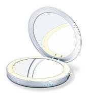 Косметическое зеркало с подсветкой и внешним аккумулятором - BS39