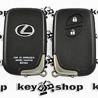 Корпус смарт ключа для LEXUS (Лексус) RX, GX, LX, IS, GS, ES, LS, HS250H, CT200H - 2 кнопки