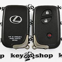Корпус смарт ключа для LEXUS (Лексус) RX, GX, LX, IS, GS, ES, LS, HS250H, CT200H - 2+1 кнопки