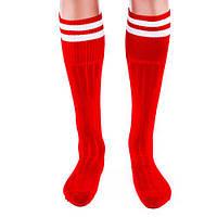 Гетры футбольные подростковые N022 (красные)