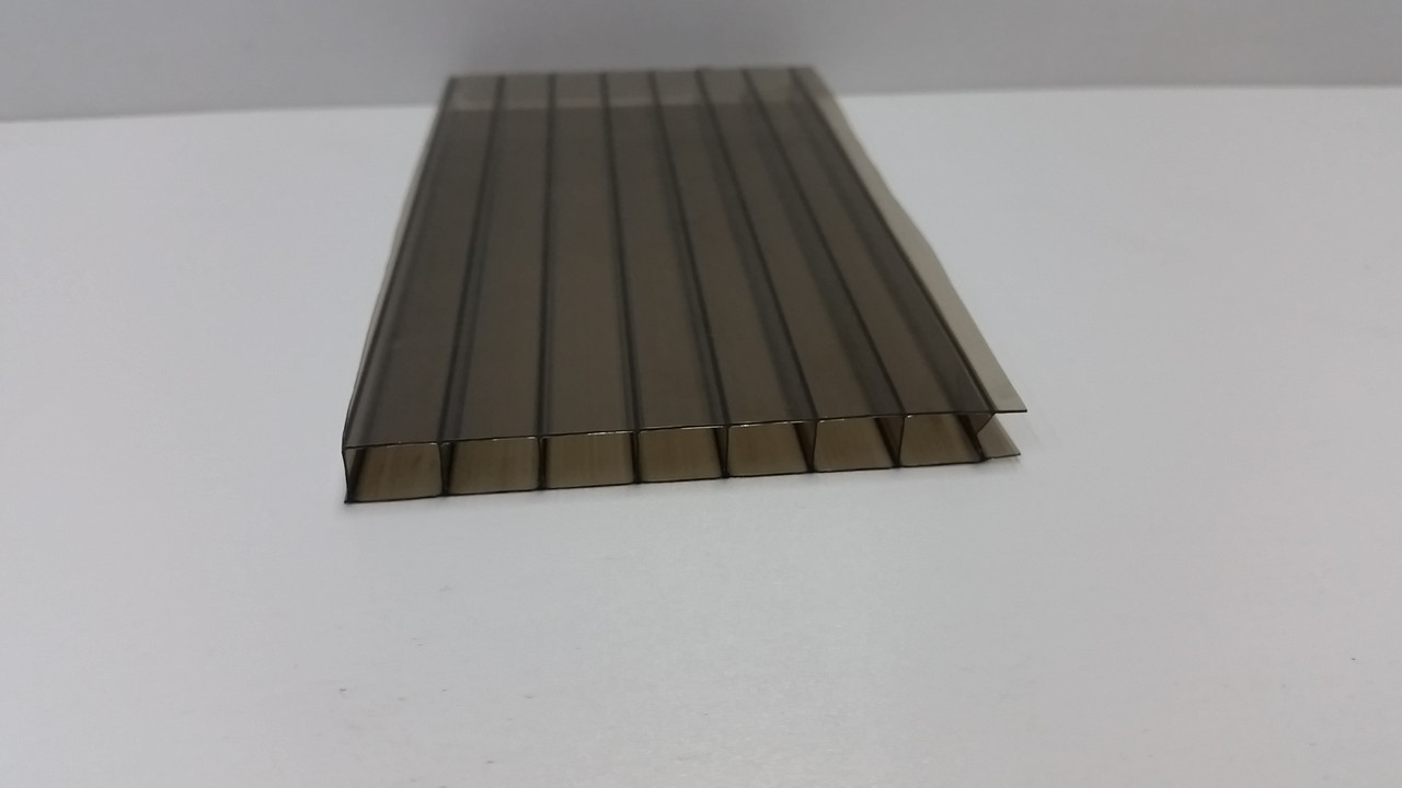 Сотовый поликарбонат 8мм бронза, фото 1