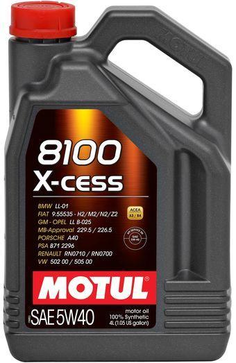 Моторное масло 5W-40 (4л.)MOTUL 8100  X-cess