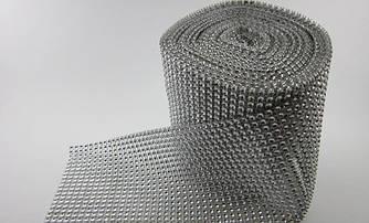 Лента (шина) из камней шириной 12 см, длиной 1 м (Серебро)