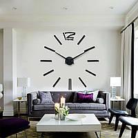3d часы настенные 004В (Палочки Черные)