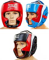 Шлем боксерский с полной защитой кожаный EVERLAST (р-р M-XL)