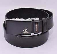 Кожаный ремень автомат мужской Calvin Klein 8006-308-g черный