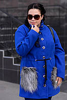Красивое демисезонное пальто укороченного варианта