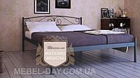 """Кованая металлическая кровать """"Верона"""" 120х190, Черный структурный"""