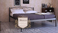 """Кованая металлическая кровать """"Верона"""" 140х190, Черный глянец"""