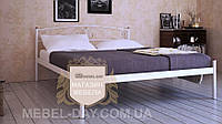 """Кованая металлическая кровать """"Верона"""" 140х200, Белый"""