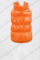Куртка меховая оранжевая для собаки