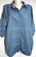Женская рубашка, коттон (50-54) — купить оптом в одессе 7км