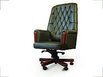 Кресло руководителя Оксфорд кожа темно-зеленая