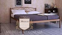 """Кованая металлическая кровать """"Верона"""" 140х200, Коричневый"""