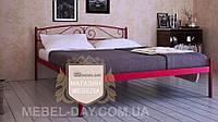 """Кованая металлическая кровать """"Верона"""" 120х190, Красный лак"""