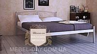 """Кованая металлическая кровать """"Верона"""" 120х190, Алюминий"""