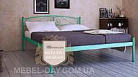 """Кованая металлическая кровать """"Верона"""" 120х190, Зеленый"""