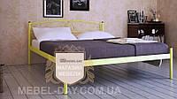 """Кованая металлическая кровать """"Верона"""" 140х190, Желтый"""