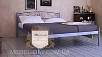 """Кованая металлическая кровать """"Верона"""" 120х200, Синий"""